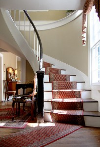 image of antique spiral stairs when you stay at a bed & breakfast