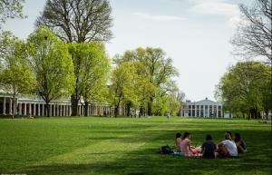 University of Virginia lawn in the springtime