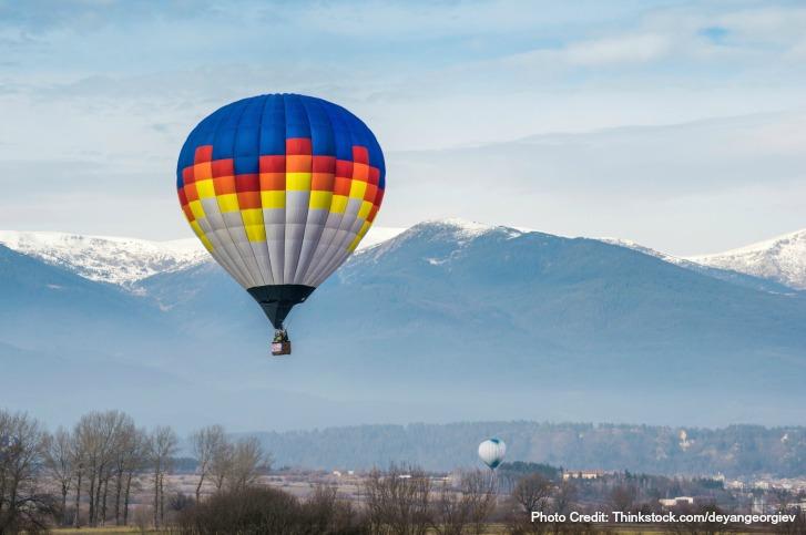 Hot air ballooning over Charlottesvillle