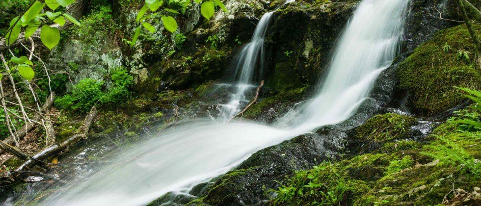 A small waterfall at Shenandoah National Park