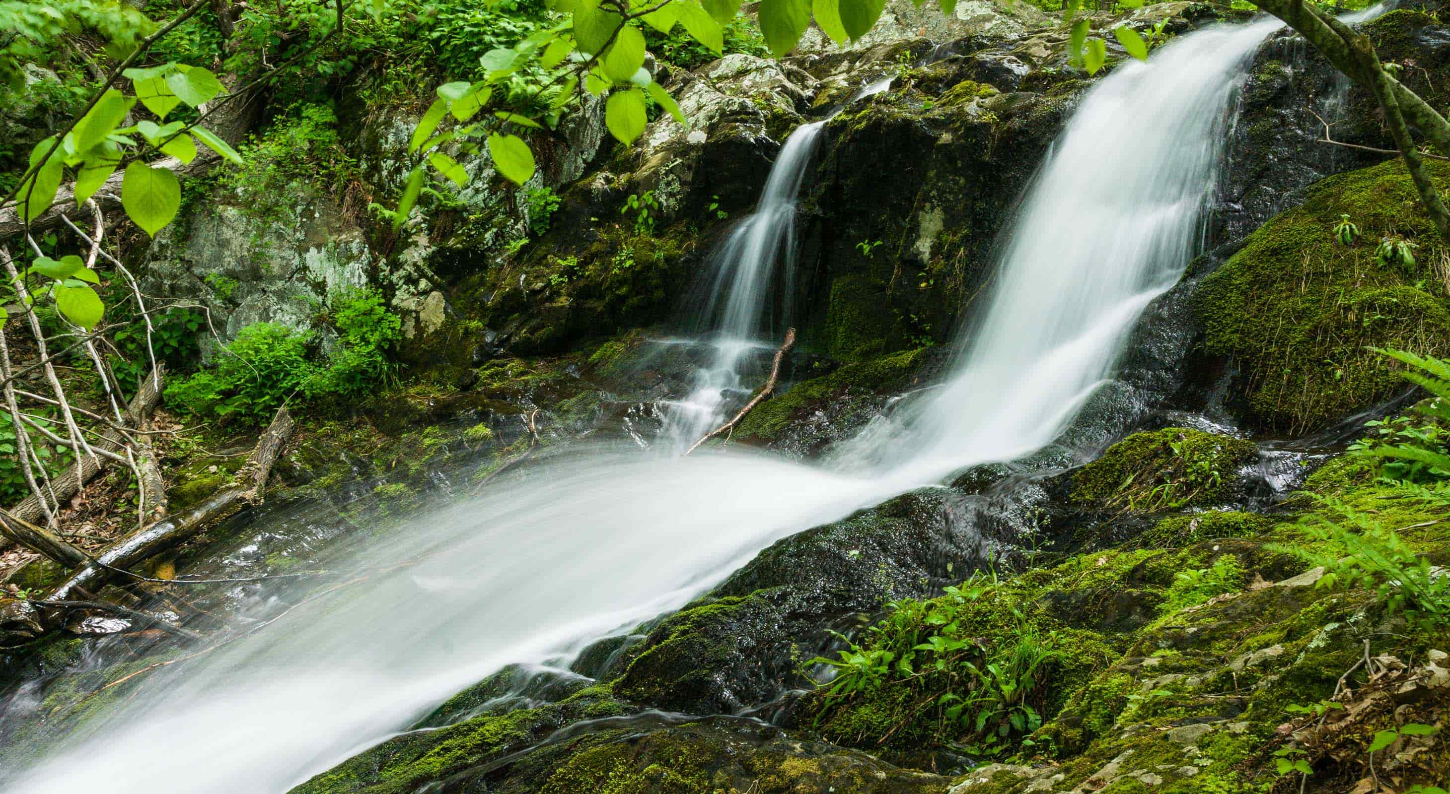 A small waterfall at Shenandoah National Park