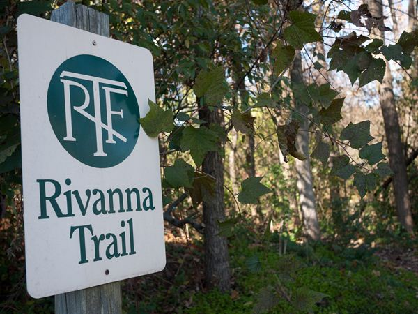 photo of trailhead sign for Rivanna Trail, America's Best-Disguised Hiking Trail