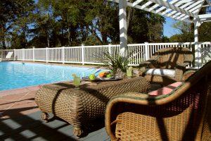 photo of relaxing outdoor pool in Virginia