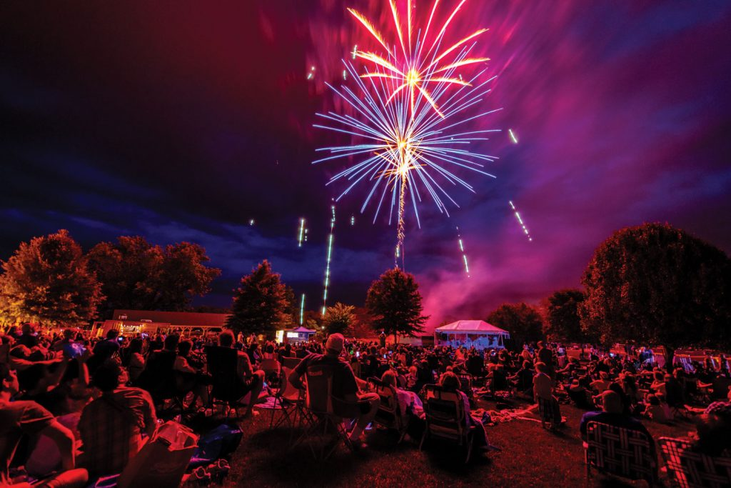 image of july 4th fireworks in Crozet, Virginia