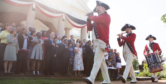 Immigration ceremony at Monticello