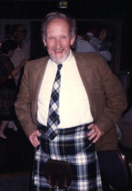 image of Norman T. Simpson wearing a kilt