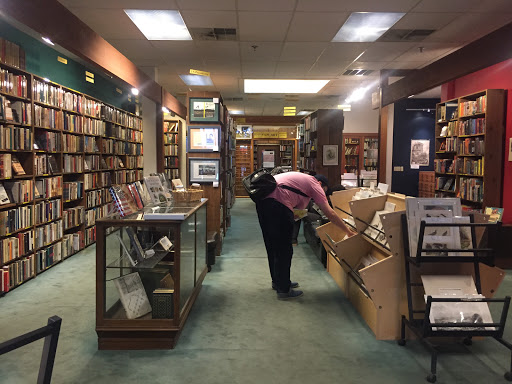 image of a customer shopping at Blue Whale Books