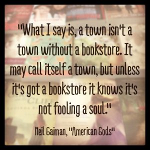 quote by Neil Gaiman about bookstores