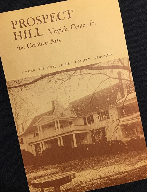 image of fundraising brochure for VCCA at Prospect Hill - Virginia Center for the Creative Arts at Prospect Hill