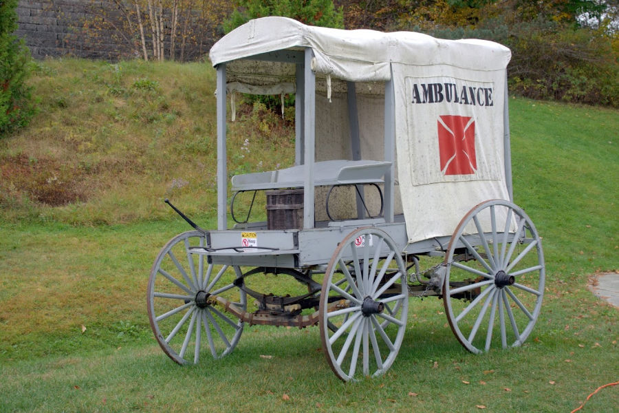 18th Century Ambulance - Civil War Medical Museum - part of Charlottesville history tour