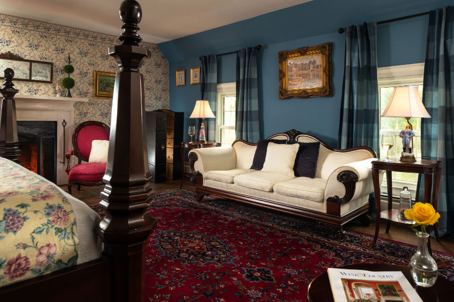 1873 Overton Room at Virginia Bed and Breakfast when touring Charlottesville history