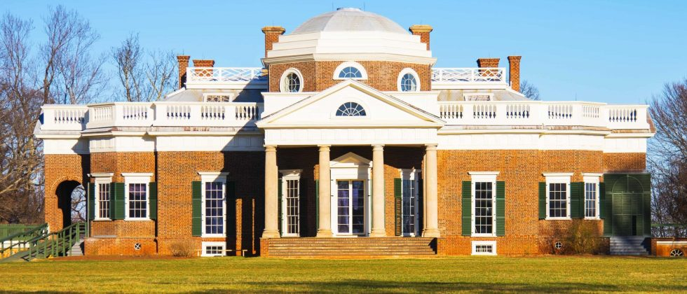 Thomas Jefferson's Monticello from the front