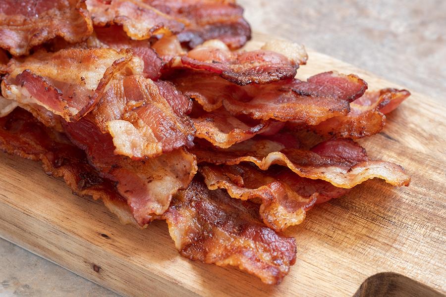 Delicious crispy bacon