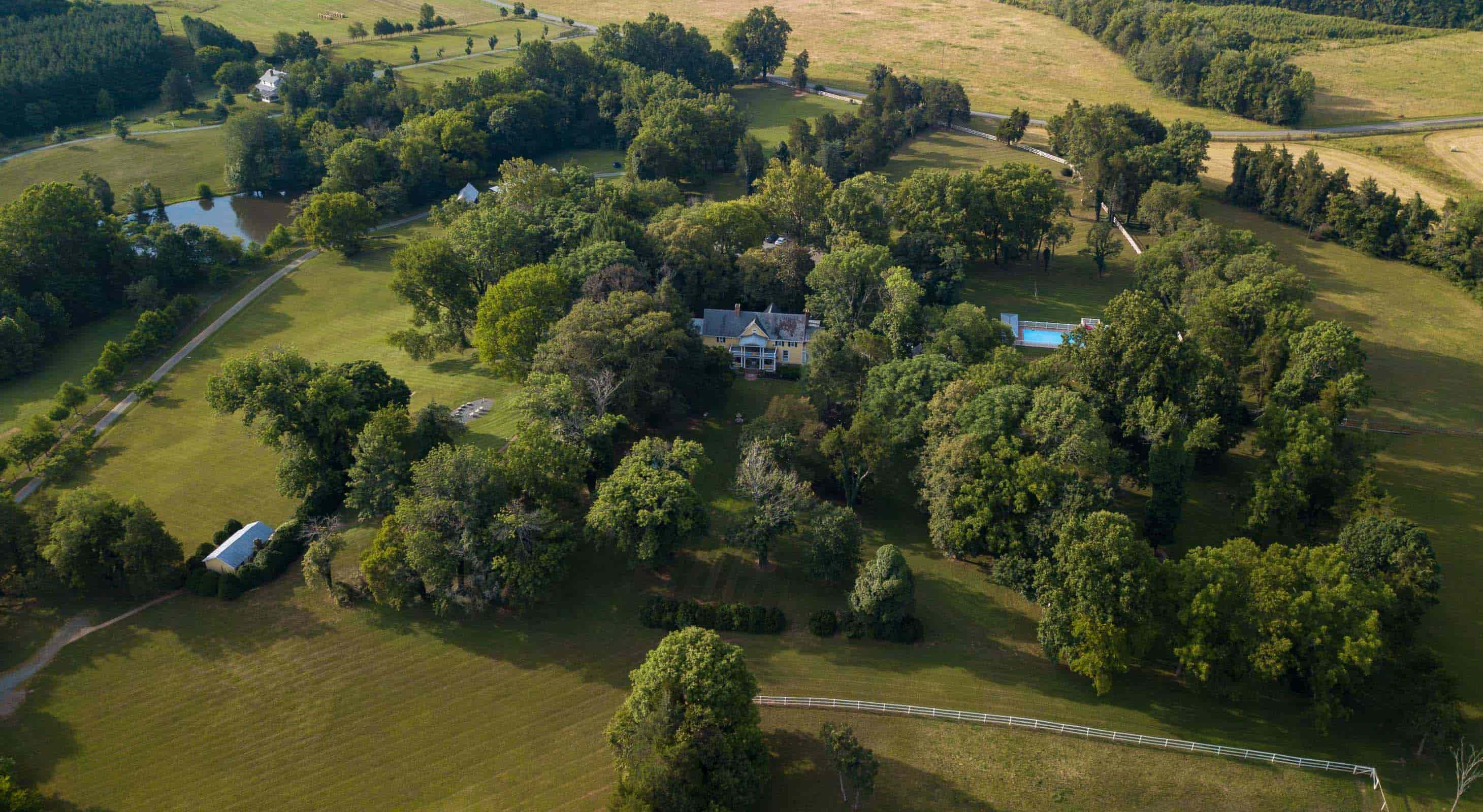 Aerial view of Prospect Hill Inn and Property
