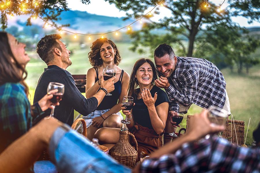 Barboursville Vineyards - Group of Couples Enjoying Wine