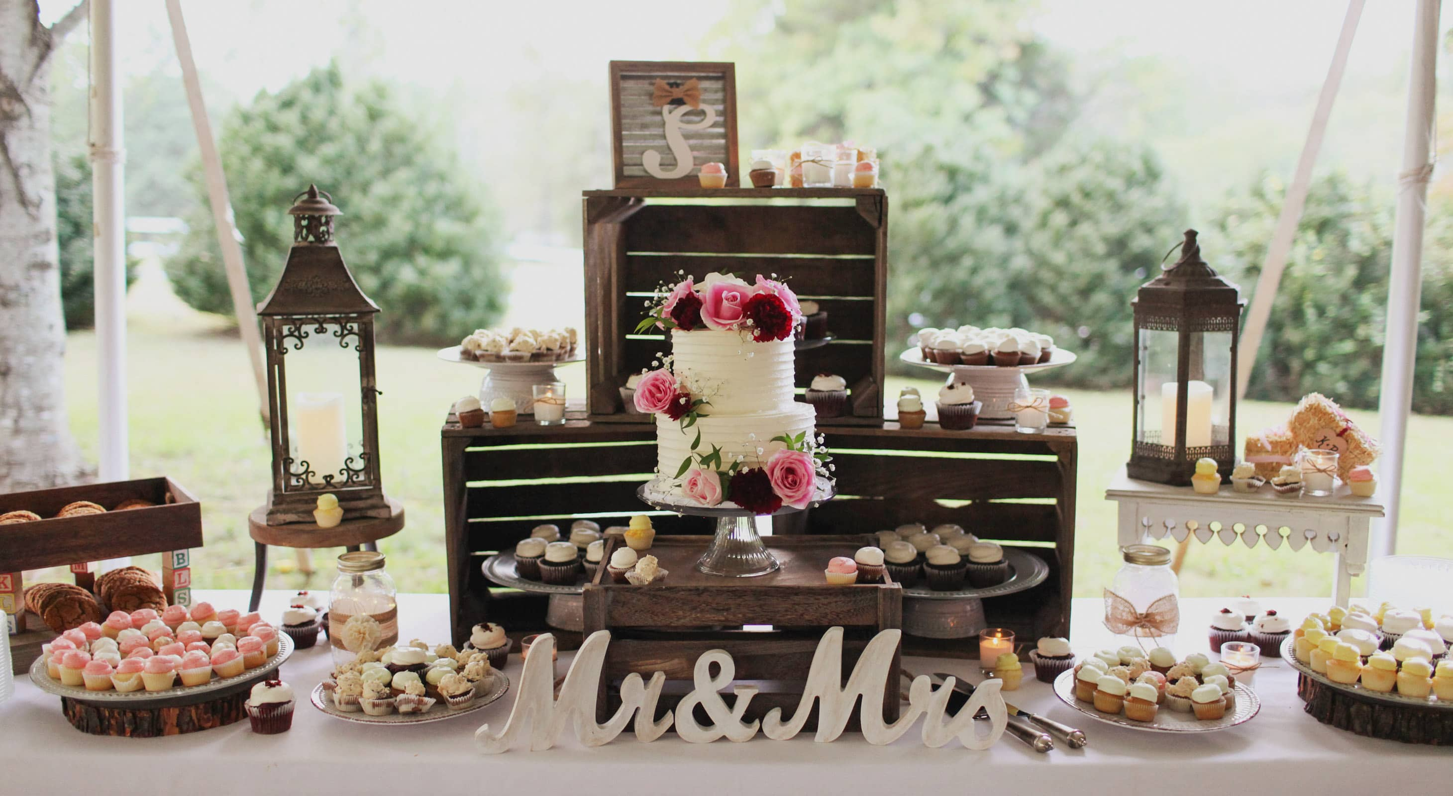 Dessert table at a wedding at Prospect Hill Inn & Restaurant