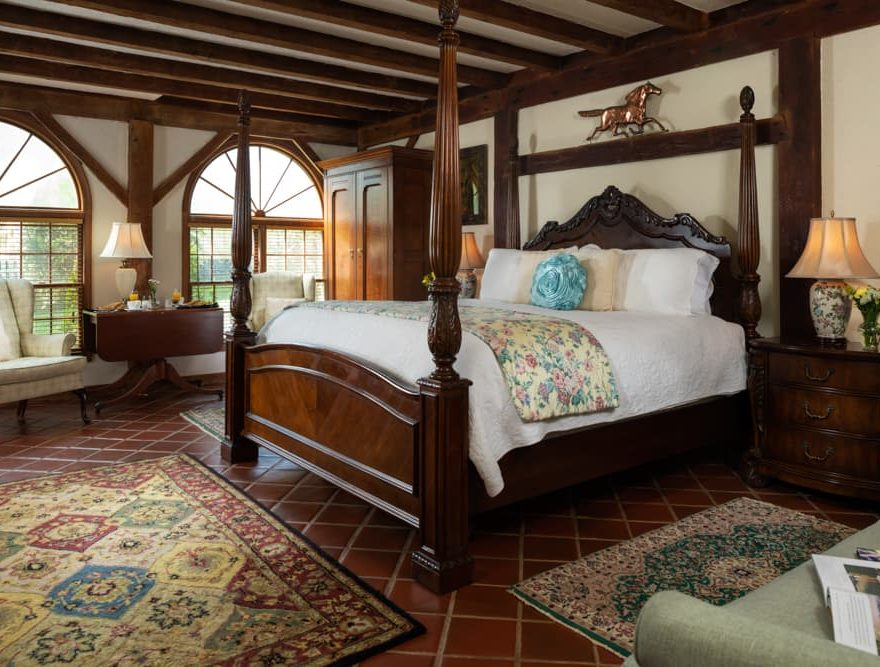 Bed in the 1850 Carriage house