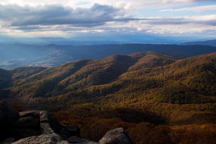 panoramic photos of Blue Ridge Mountains